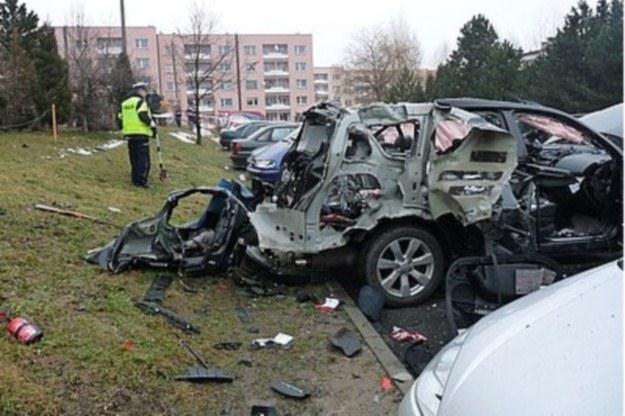 Auto zostało doszczętnie zniszczone /Policja