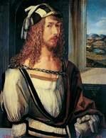 Autoportret: Albrechta Dürera (1498 r.) /Encyklopedia Internautica