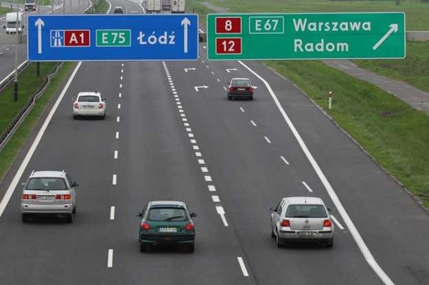 Autostrada A1 w okolicach Piotrkowa. Fot. Łukasz Jóźwiak /Reporter