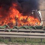 Autostrada A4: Po pożarze ciężarówki zdecydowano o wymianie nawierzchni