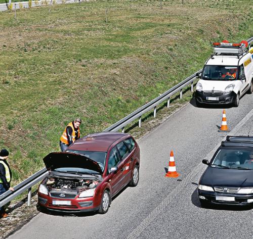 Awaria na autostradzie /Motor