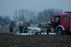 Awaryjne lądowanie awionetki w Michałowie-Grabinie