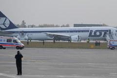 Awaryjne lądowanie Boeinga 767 na Okęciu