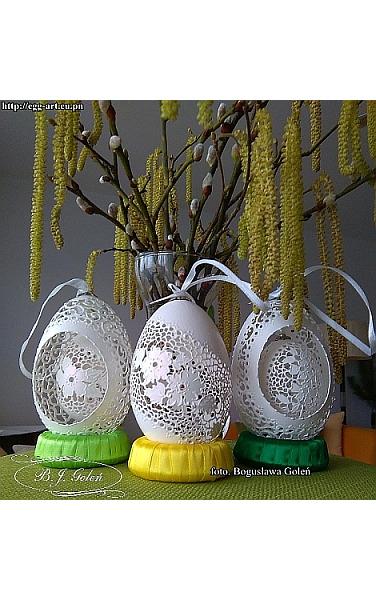 ażurowe pisanki - skorupki gęsie i kurze