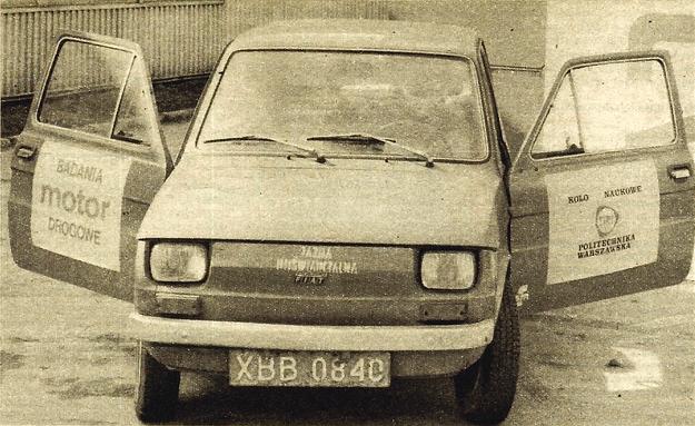 Badanie drogowe Polskiego Fiata 126p/650 przeprowadziliśmy przy współudziale Koła Naukowego Wydziału Samochodów i Ciągników Politechniki Warszawskiej. /Motor