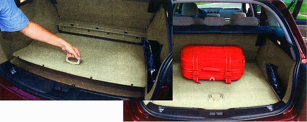 Bagażnik ma przyzwoitą pojemność, regularne kształty i podłogę, którą można ustawiać na dwóch wysokościach, uzyskując pod nią całkiem pojemny, niewidoczny z zewnątrz schowek. Oparcie przedniego prawego fotela jest składane, więc w razie potrzeby Cromą można przewieźć przedmioty o długości nawet 2,7 m. /Motor