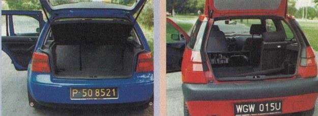 Bagażniki są zbliżone, w Golfie tylko nieznacznie większy. Dzielone siedzenia w VW za doptatą. /Motor