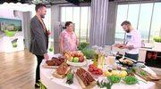 Bagietka ze szparagami i szynką, otwarta kanapka z polędwiczką. Piotr Kucharski i jego kanapki