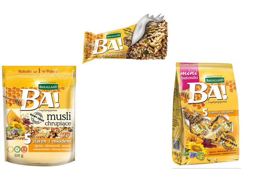 Bakaliowy baton oraz chrupiące musli BA! 5 ziaren z miodem /materiały prasowe