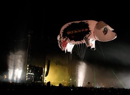 Balonowa świnia odlatuje Rogerowi Watersowi - fot. Kevin Winter /Getty Images/Flash Press Media