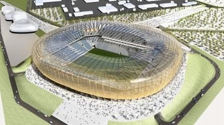 Baltic Arena Gdańsk - na razie na makiecie... /