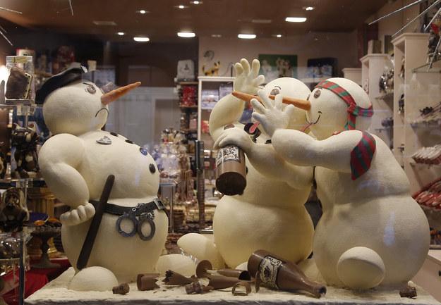 Bałwanki z belgijskiej czekolady /AFP