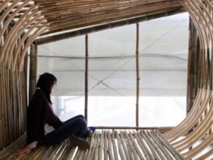 Bambusowe domy dla bezdomnych