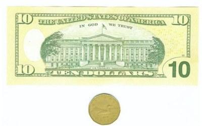 Banknot 10-cio dolarowy - zdjęcie /CDA