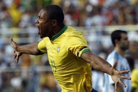 Baptista po tym jak strzelił gola Argentynie /AFP