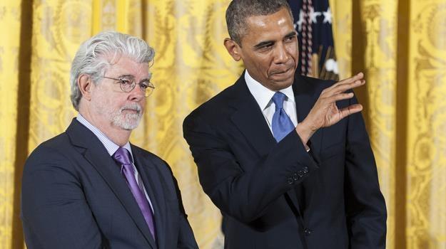 Barack Obama docenił wkład w rozwój kinematografii George'a Lucasa / fot. Pete Marovich /Getty Images/Flash Press Media