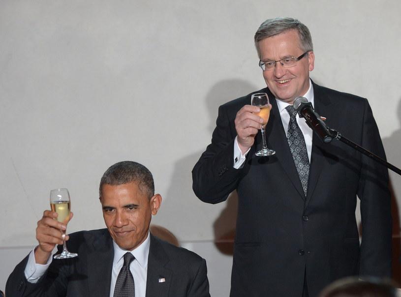 Barack Obama i Bronisław Komorowski /Radek Pietruszka /PAP