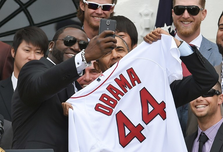 Barack Obama i David Ortiz /AFP