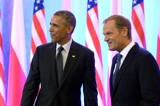 Barack Obama i Donald Tusk /PAP/Radek Pietruszka    /PAP