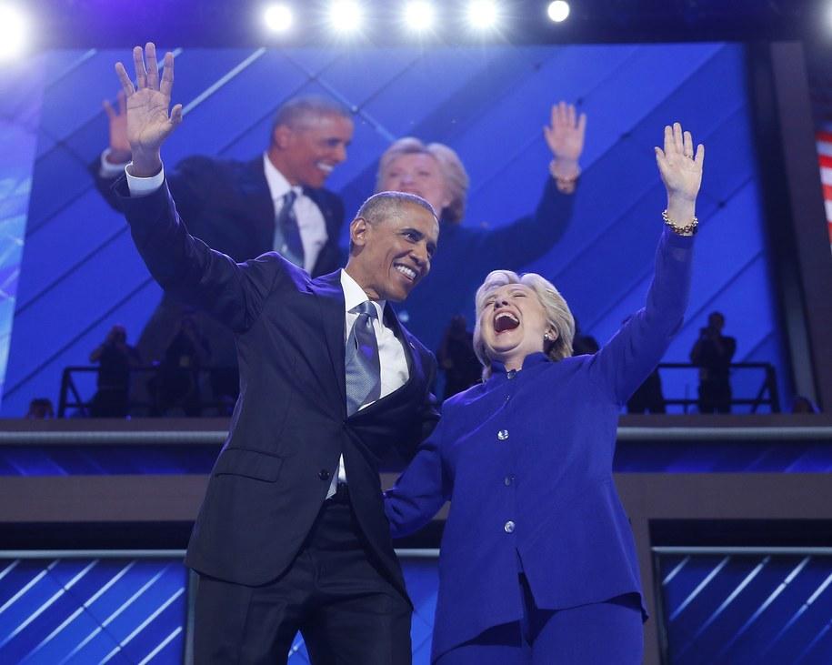Barack Obama i Hillary Clinton /JUSTIN LANE /PAP/EPA