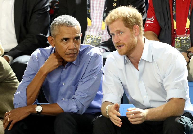 Barack Obama i książę Harry /AFP