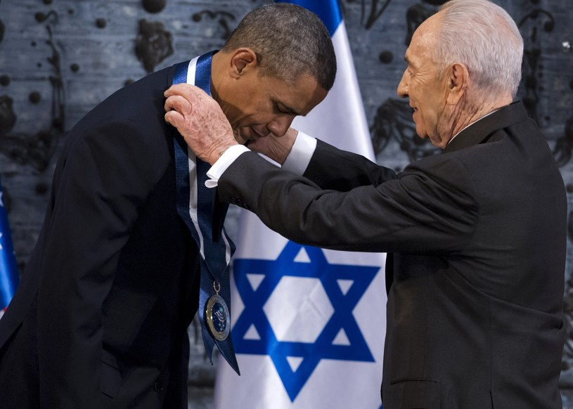 Barack Obama i Szimon Peres /AFP