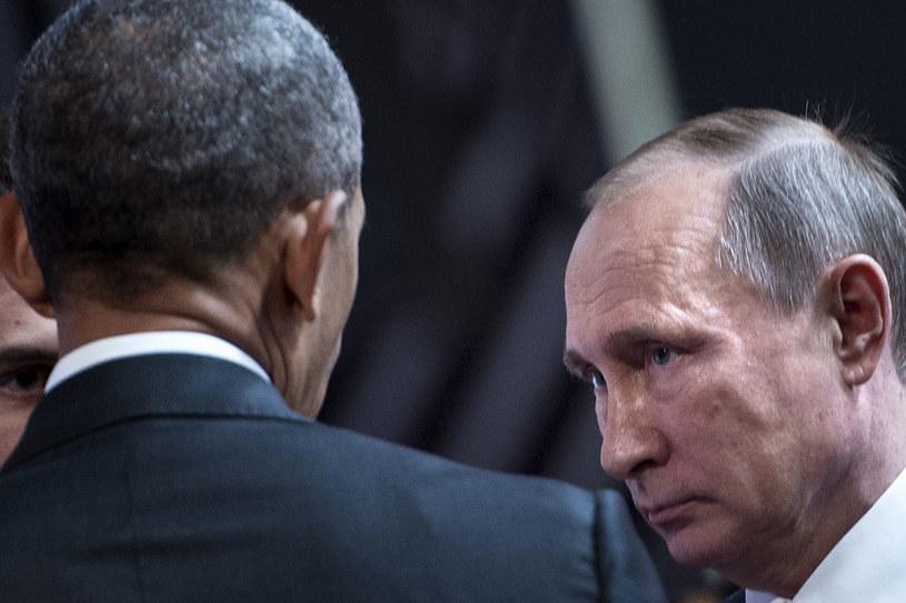 Barack Obama i Władimir Putin podczas spotkania w Limie /AFP