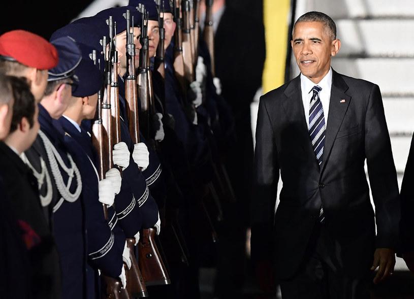Barack Obama na berlińskim lotnisku Tegel /AFP