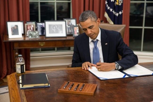 Barack Obama o zaistaniałą sytuację oskarżył Republikanów. /Pete Souza /PAP/EPA