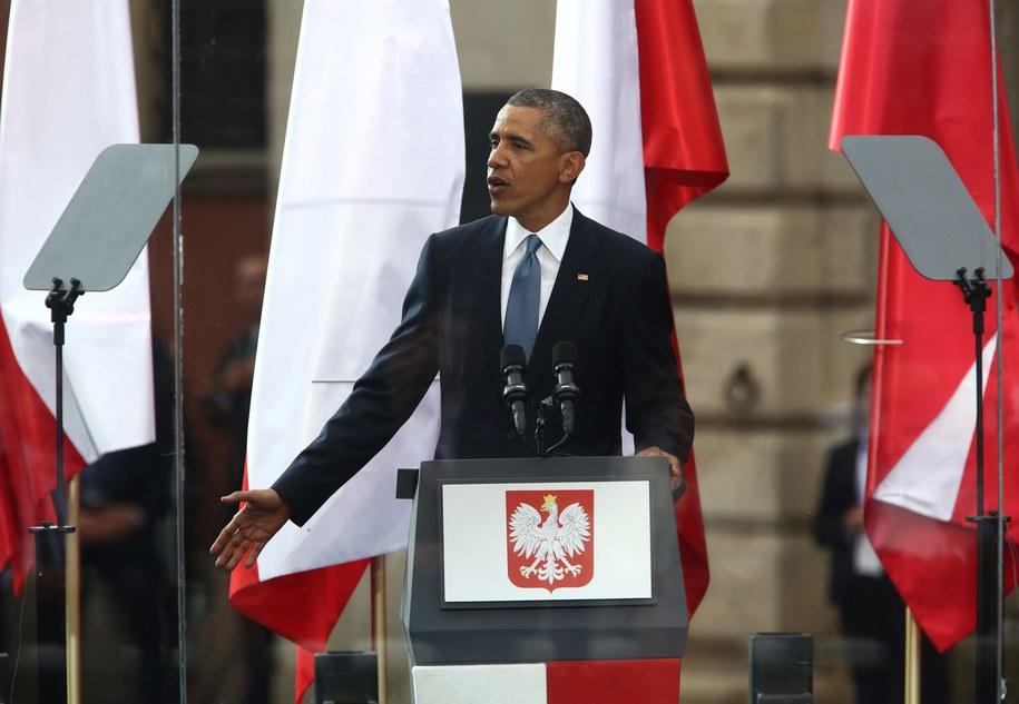 Barack Obama podczas czerwcowej wizyty w Warszawie /Tomasz Gzell /PAP
