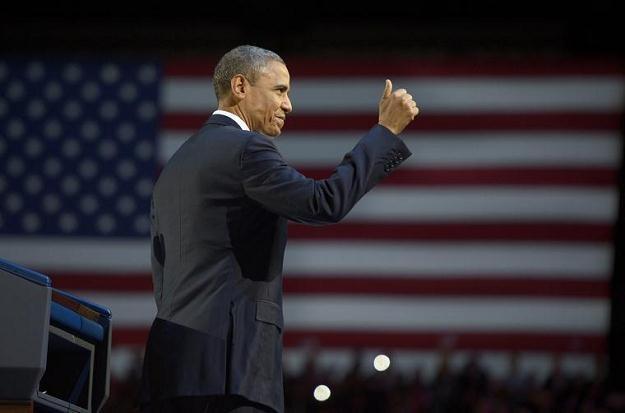 Barack Obama świętuje wyborcze zwycięstwo/PAP/EPA /New York Times/©The International Herald Tribune