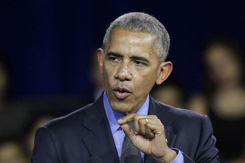Barack Obama w trakcie wystąpienia w Limie /GERMAN FALCON /PAP/EPA