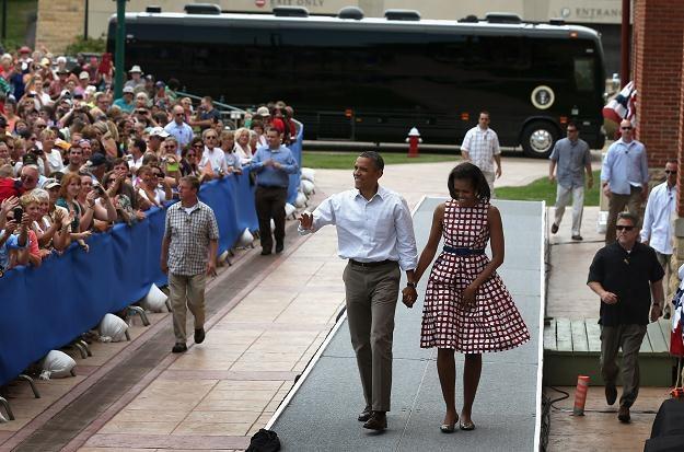 Barack Obama z żoną /AFP