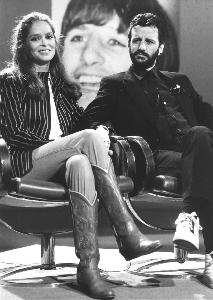 Barbara Bach i Ringo Starr na początku lat 80. /AP/Fotolink
