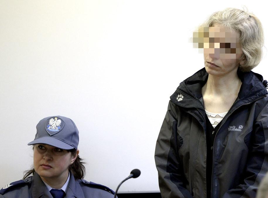 Barbara U. na sali rozpraw w Sądzie Okręgowym w Tarnobrzegu /Darek Delmanowicz /PAP