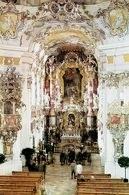 Barok: ołtarz główny zbudowany przez D. Zimmermanna, In der Wies, Bawaria, 1745-54 /Encyklopedia Internautica