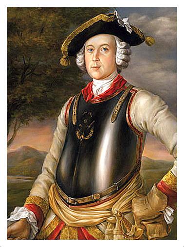 """Baron-fantasta, Karl Friedrich Hieronymus Freiherr von Münchhausen, którego niestworzone historie stały się m.in. kanwą filmu """"Przygody Barona Münchhausena"""". Źródło: www.nl.wikipedia.org /"""