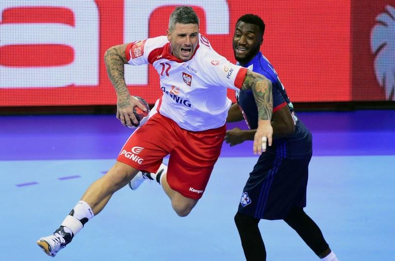 Bartosz Konitz w meczu przeciwko Francji na mistrzostwach Europy /AFP