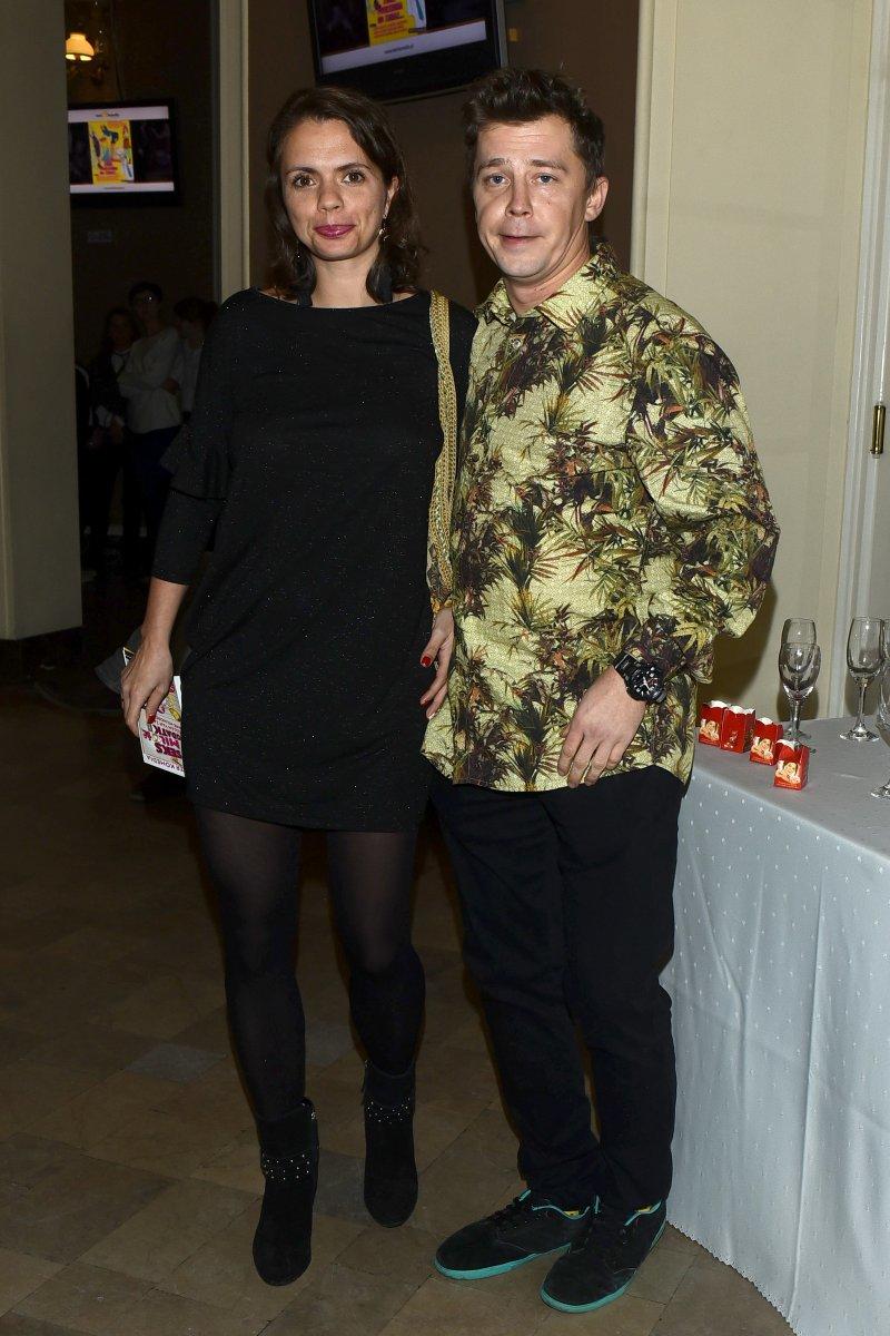 Bartosz Obuchowicz z żoną /Andras Szilagyi /MWMedia