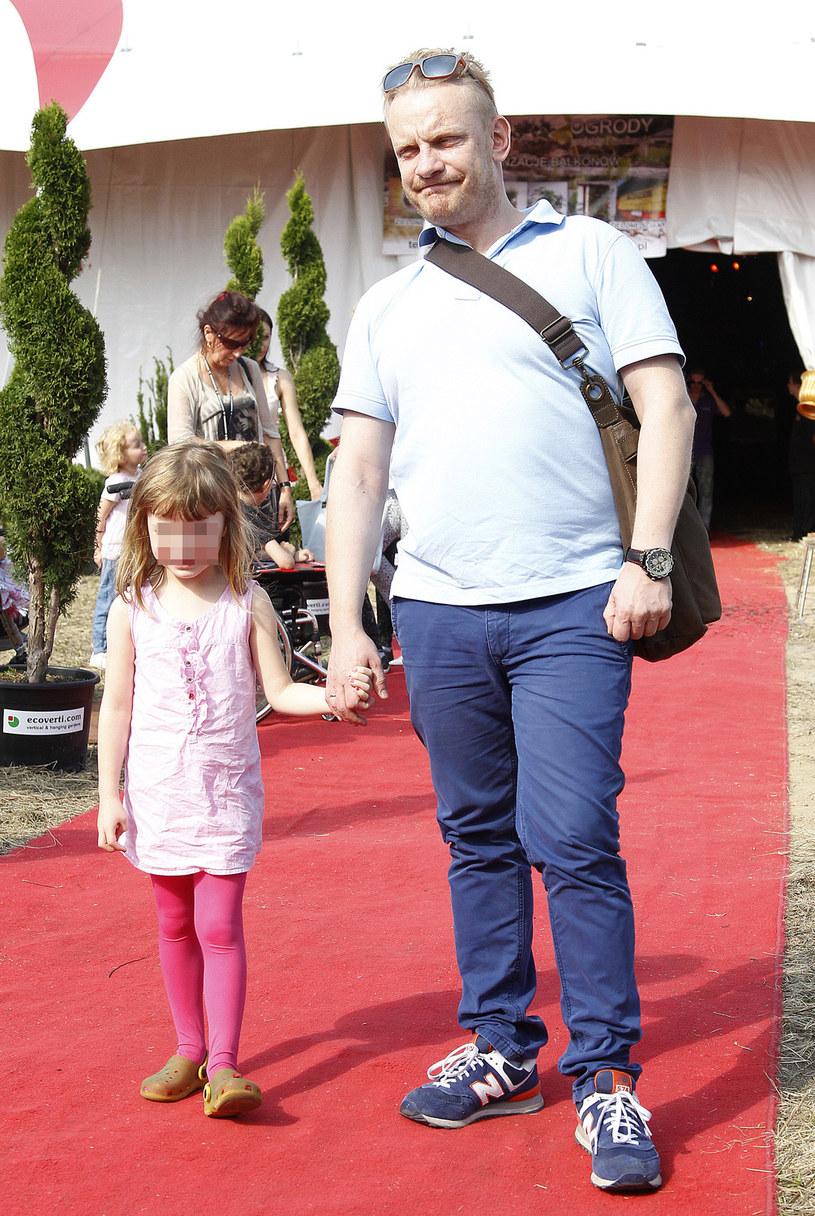 Bartosz Żukowski z córką Polą /Krzemiński Jordan /AKPA