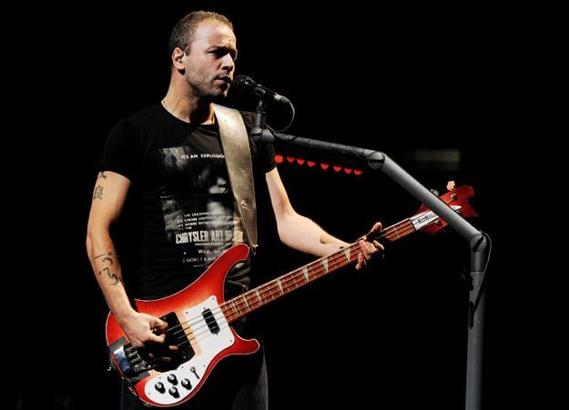 Basista Christopher Wolstenholme z Muse fot. Kevin Winter /Getty Images/Flash Press Media