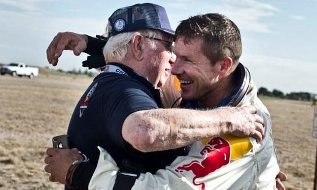 Baumgartner z Kittingerem. Fot. Red Bull Stratos /materiały prasowe