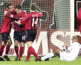 Bayer - AS Roma 3:1. Piłkarze z Leverkusen mają powody do radości /AFP
