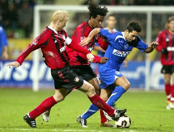 Bayer Leverkusen przegrał z Herthą Berlin /AFP
