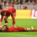 Bayern - Atletico. Robert Lewandowski uderzony w twarz przez Juanfrana