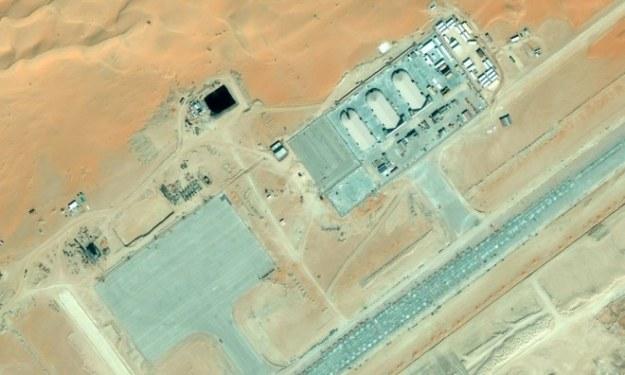 Baza dronów w Arabii Saudyjskiej.   Fot. Bing Maps /materiały prasowe