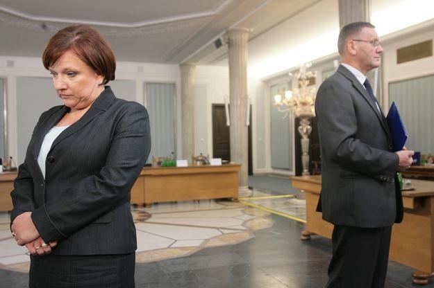 Beata Kempa i Mirosław Sekuła - bohaterowie komisji hazardowej / fot. J. Waszkiewicz /Reporter