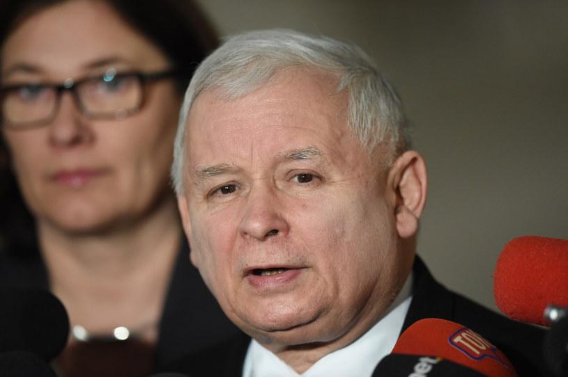 Beata Mazurek i Jarosław Kaczyński /Radek Pietruszka /PAP