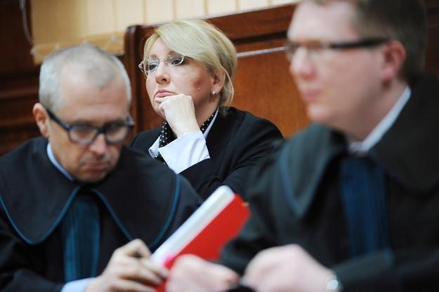 Beata Sawicka na sali sądowej, fot. Jacek Turczyk /PAP