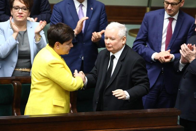 Beata Szydło i Jarosław Kaczyński /STANISLAW KOWALCZUK /East News